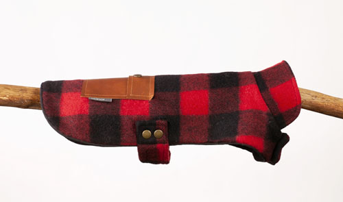 Elanor red buffalo plaid jacket